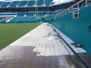 ... Miami Gardens, FL, Hard Rock Stadium (Previously: Sun Life Stadium).  Applying VAP I 2000 To Walkway